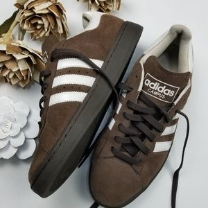 Adidas Campus - Men's Brown White Retro Sneaker 9